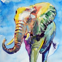 Colorful Elephant - Fine Art