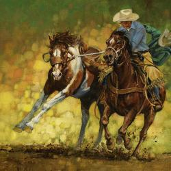 Rodeo Pickup - Fine Art