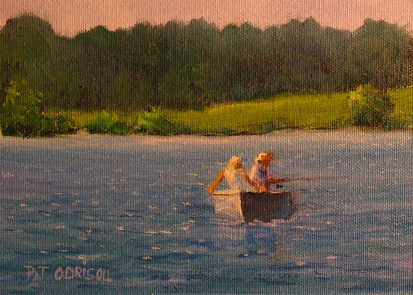 Patrick ODriscoll -  Couple Fishing in a Boat