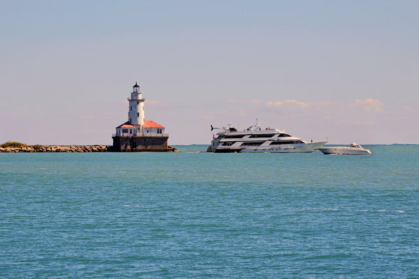 Chicago Photograph -  Historical Chicago Harbor Light by Christine Till