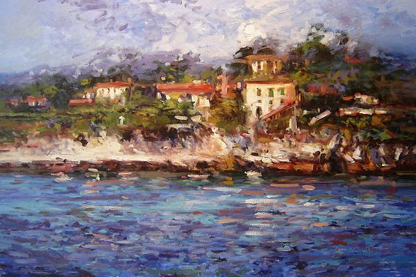 Cassis Painting - Afternoon Light In Cassis by R W Goetting