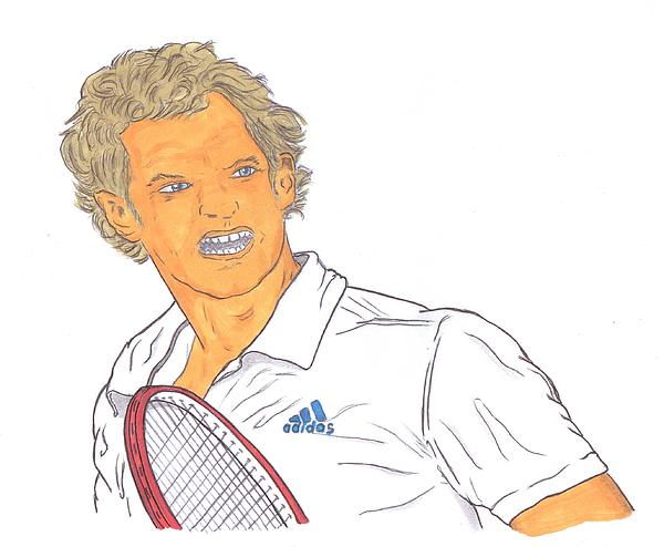 Andy Murray Drawing  - Andy Murray Fine Art Print