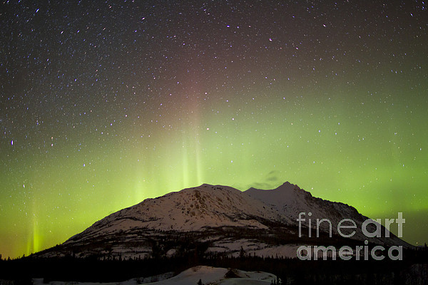 Atmospheric Mood Photograph - Aurora Borealis And Milky Way by Joseph Bradley