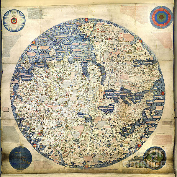 Old World Photograph - Old World Vintage Map by Inspired Nature Photography Fine Art Photography