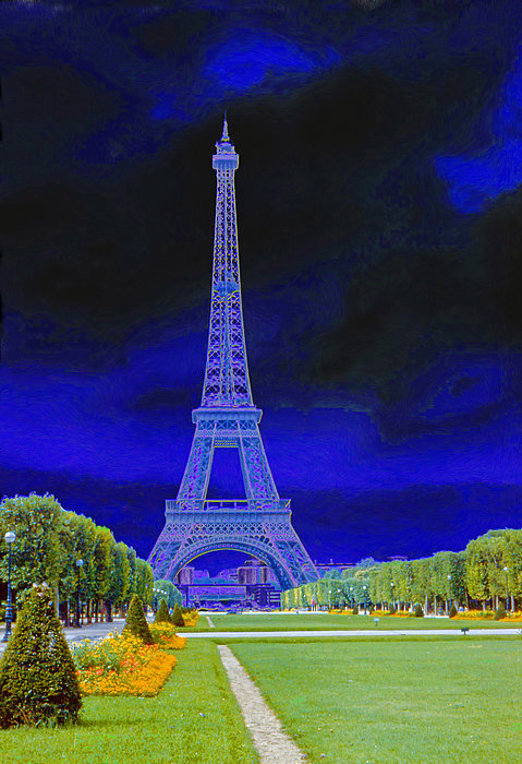 Purple Eiffel Photograph