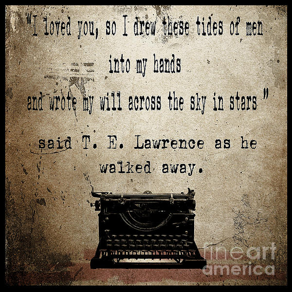 Literature Painting - Said T E Lawrence by Cinema Photography