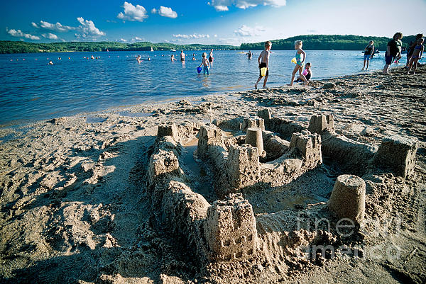 Bathing Suit Photograph - Sandcastle On The Beach by Amy Cicconi
