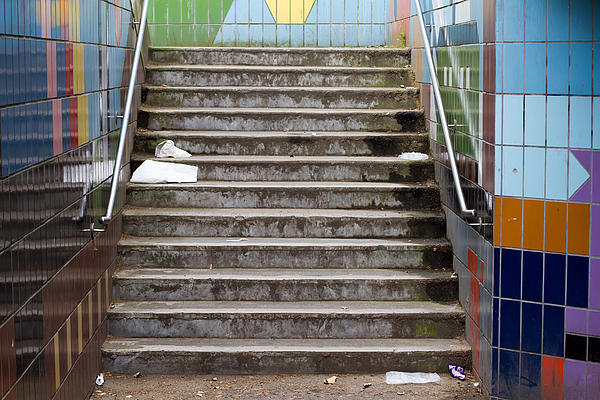 Subway Photograph - Subway Stairs by Fizzy Image