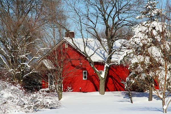 Farm Photograph - The Old Red House by Heather Allen