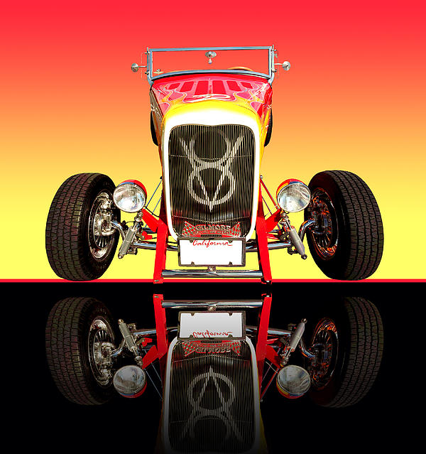 Car Photographs Photograph - 1932 Front Ford V8 Hotrod by Jim Carrell
