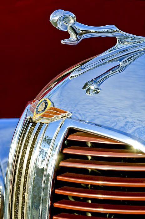 1938 dodge ram hood ornament 3 greeting card for sale by jill reger. Cars Review. Best American Auto & Cars Review