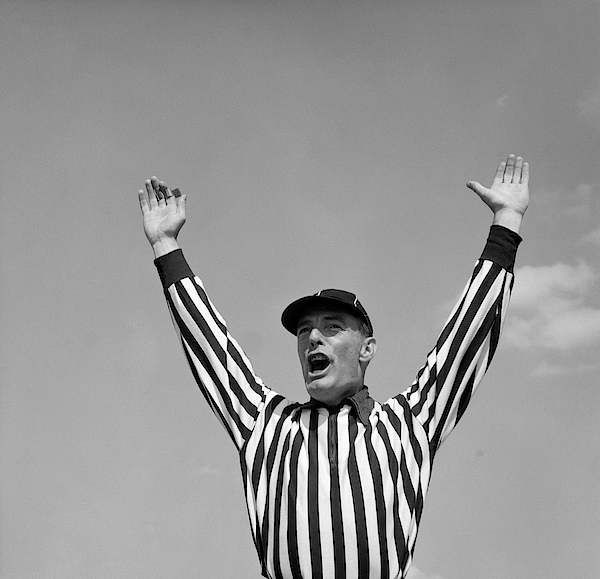 American Football Referee Touchdown Gestures In Silhouettes On ...