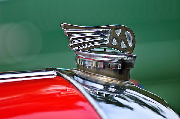 1953 Morgan Plus 4 Le Mans Tt Special Hood Ornament Photograph  - 1953 Morgan Plus 4 Le Mans Tt Special Hood Ornament Fine Art Print