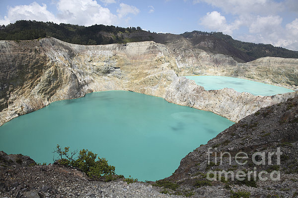 Horizontal Photograph - Colourful Crater Lakes Of Kelimutu by Richard Roscoe