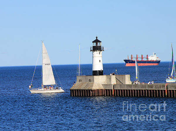 Water Photograph - Duluth Mn Harbor by Lori Tordsen