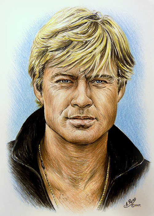 Robert Redford Drawing - Robert Redford by Andrew Read