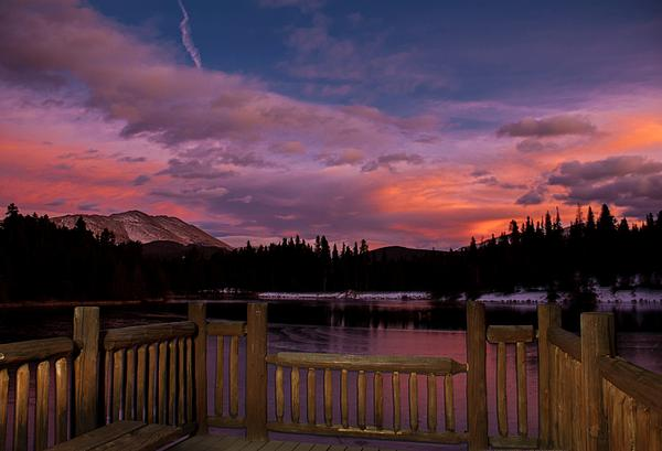 Landscape Photograph - Sawmill Lake Sunset by Michael J Bauer