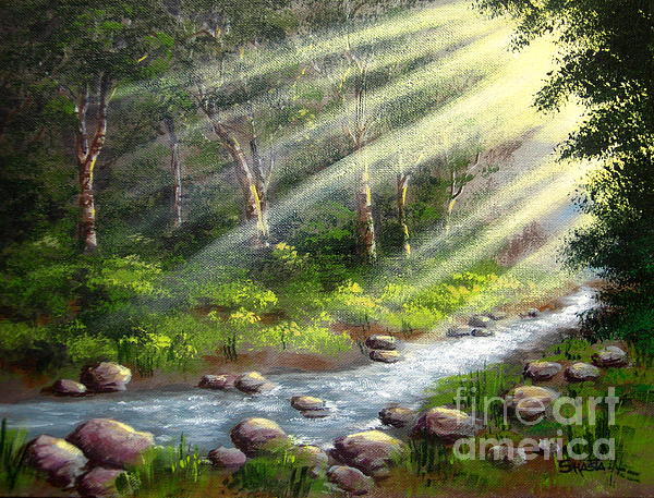 Sun  Streams  Painting  - Sun  Streams  Fine Art Print