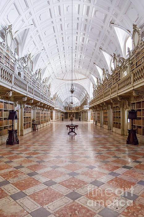 Baroque Photograph - Baroque Library  by Jose Elias - Sofia Pereira
