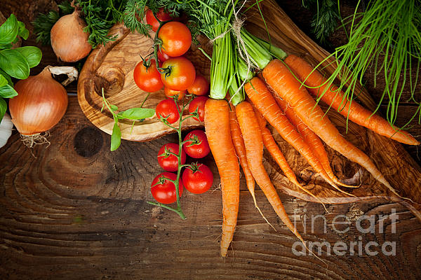 Crop Photograph - Fresh Vegetables by Mythja  Photography