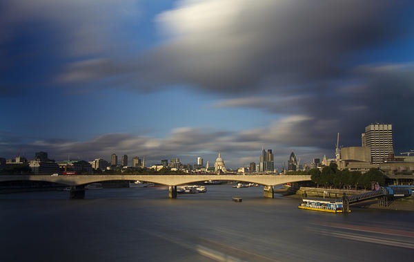 David French - London  Skyline Waterloo  Bridge