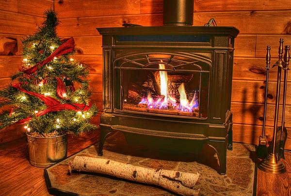 Christmas Photograph - A Log Cabin Christmas by Heather Allen