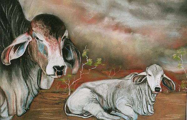 Pastel Painting Painting - A Lot Of Bull by Sandra Sengstock-Miller