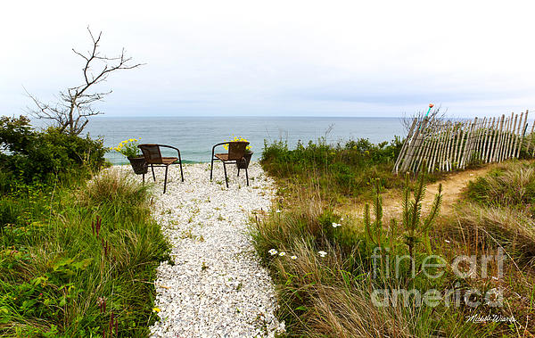 A Peaceful Respite By The Shore Photograph - A Peaceful Respite By The Shore by Michelle Wiarda