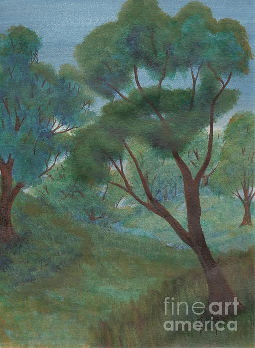 Watercolor Painting - A Thought Of Summer by Robert Meszaros
