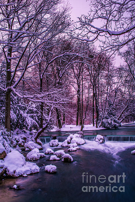 Creek Photograph - a winters tale I - hdr by Hannes Cmarits