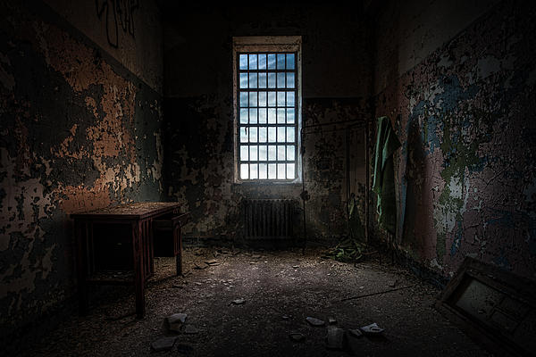 Windows Photograph - Abandoned Building - Old Room - Room With A Desk by Gary Heller