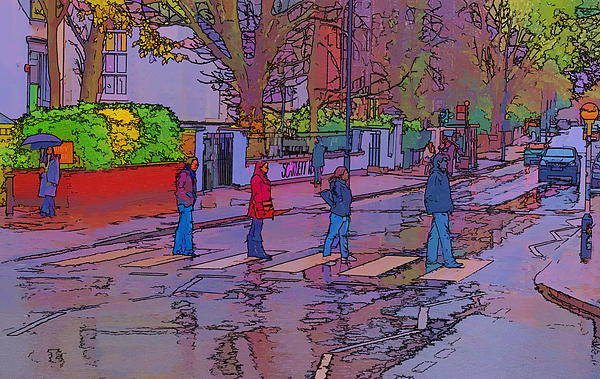 Abbey Road Album Photograph - Abbey Road Crossing by Chris Thaxter
