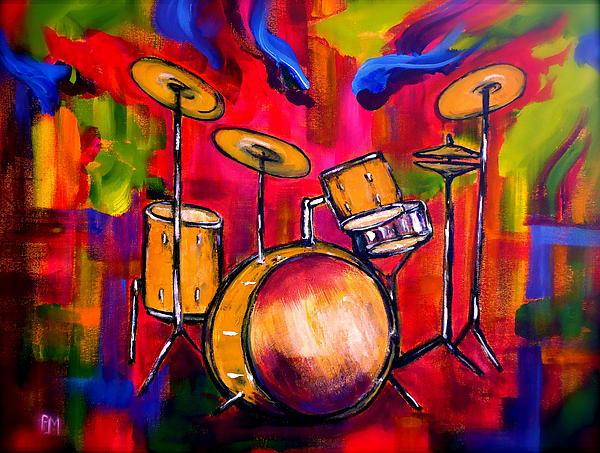 Abstract Painting - Abstract Drums II by Pete Maier