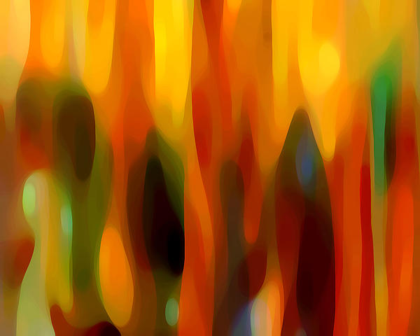 Forest Painting - Abstract Forest by Amy Vangsgard
