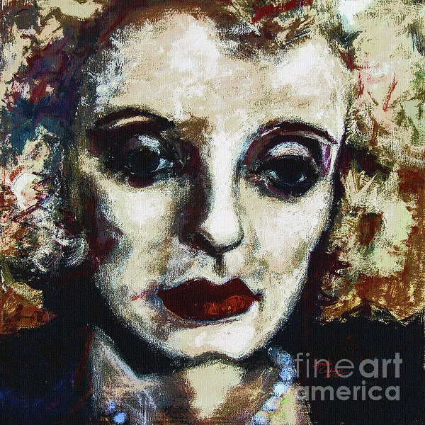 Abstract Painting - Abstract Modern Bette Davis by Ginette Callaway