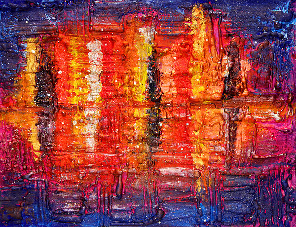 Abstract Skyline Painting  - Abstract Skyline Fine Art Print