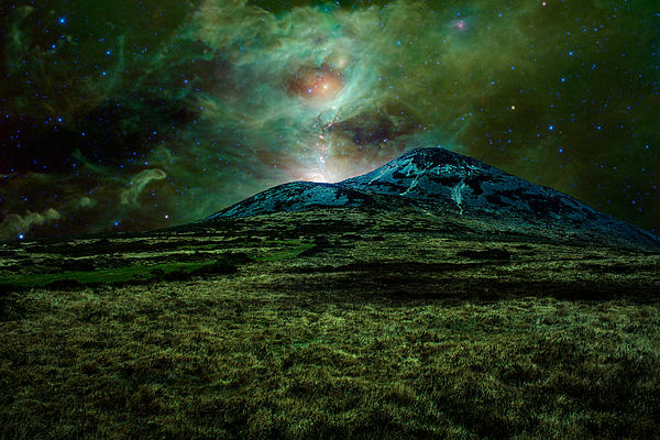 Cosmic Hearth Photograph - Alien World by Semmick Photo