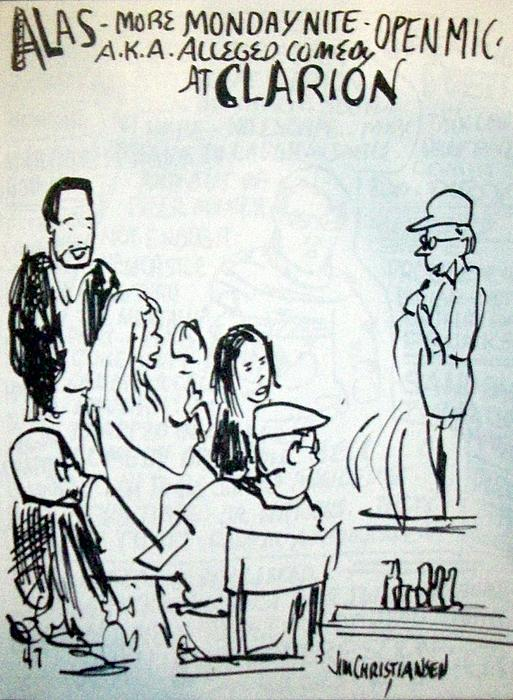 Clarion Drawing - Alleged Comedy At Clarion Modesto  by James Christiansen
