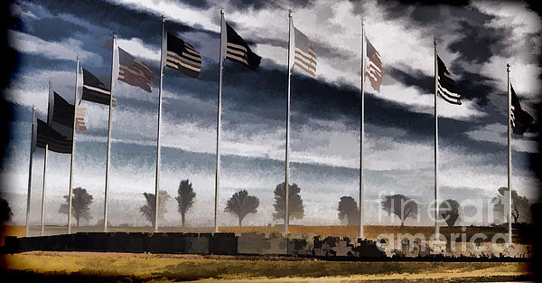 Flag Still Standing Photograph - American Flag Still Standing by Luther   Fine Art