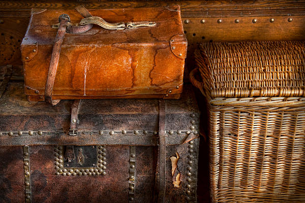 Luggage Photograph - Americana - Emotional Baggage  by Mike Savad