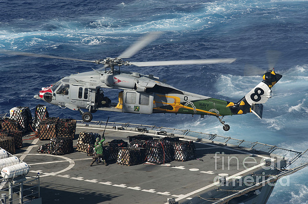 Military Photograph - An Mh-60s Sea Hawk Helicopter Picks by Stocktrek Images
