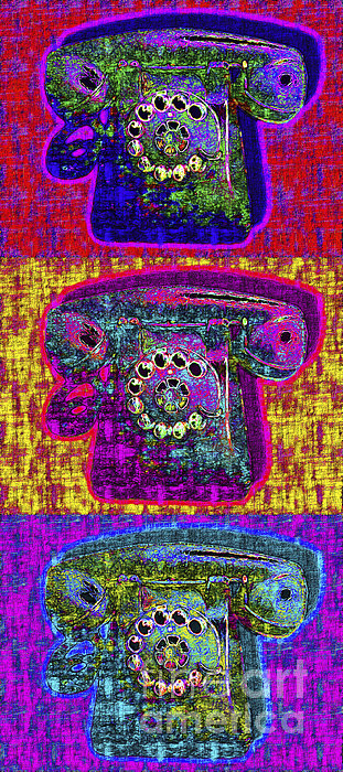 Analog Photograph - Analog A-phone Three - 2013-0121 by Wingsdomain Art and Photography