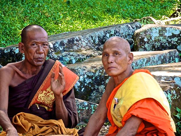 Angkor Monks Photograph  - Angkor Monks Fine Art Print