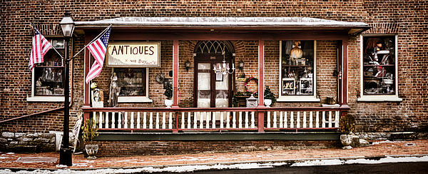 Shop Photograph - Antiques Bought And Sold by Heather Applegate