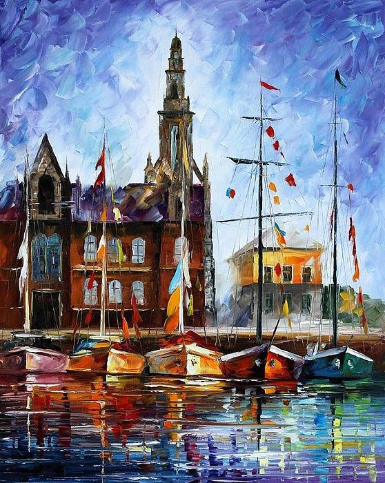Afremov Painting - Antwerp - Belgium by Leonid Afremov