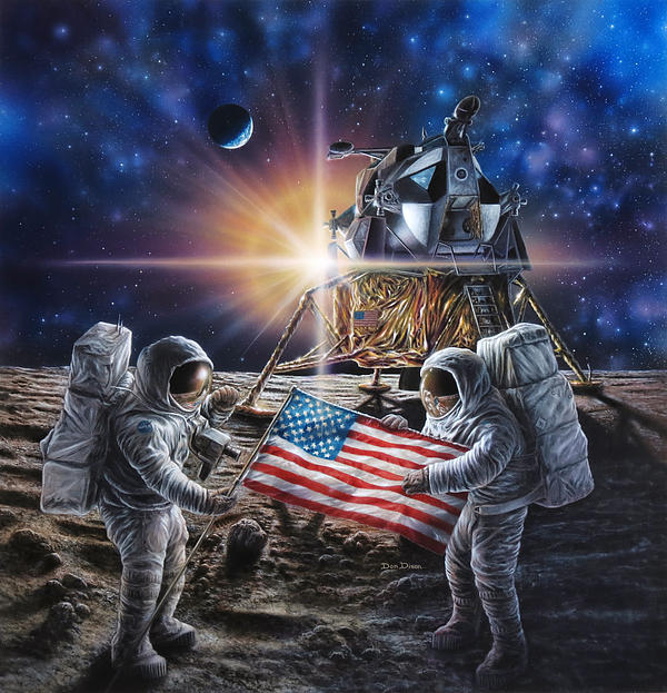 Apollo 11 Painting by Don Dixon