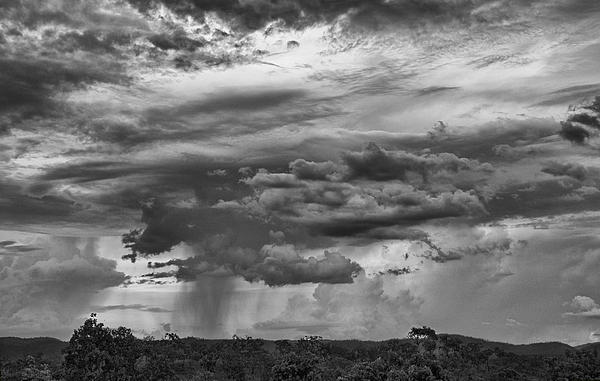 Approaching Photograph - Approaching Storm Black And White by Douglas Barnard