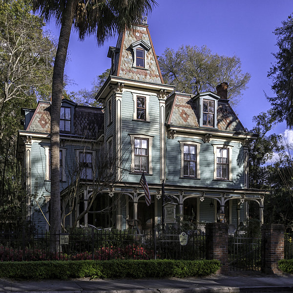 Bed & Breakfast Photograph - Aqua Victorian Painted Lady by Lynn Palmer