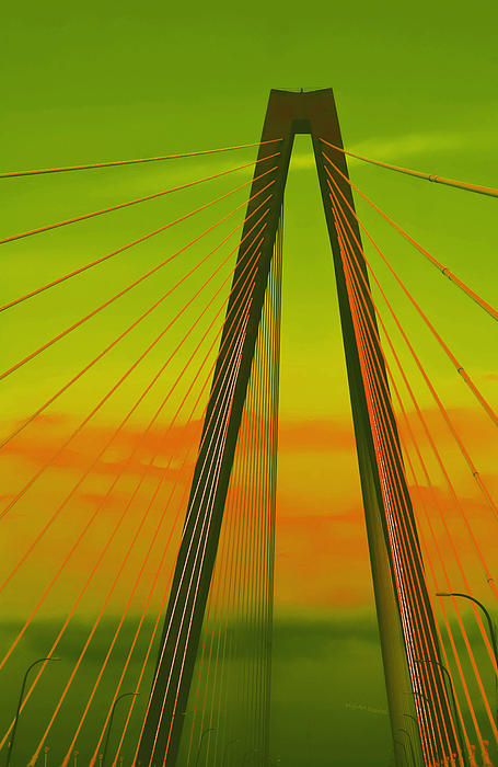 Arthur Ravenel Jr Bridge V Photograph  - Arthur Ravenel Jr Bridge V Fine Art Print
