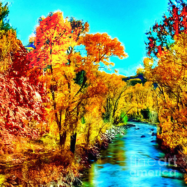 Nadine Johnston - Autumn Oak Creek Sedona Arizona